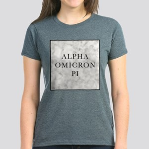 Alpha Omicron Pi Marble Women's Dark T-Shirt