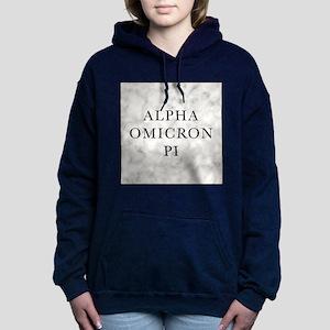Alpha Omicron Pi Marble Women's Hooded Sweatshirt