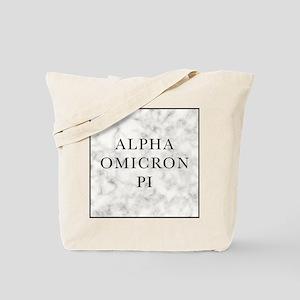 Alpha Omicron Pi Marble Tote Bag