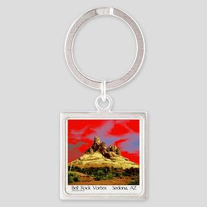 Bell Rock Vortex Sedona, AZ  (BRV6 Square Keychain