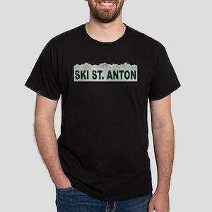 Ski St. Anton, Austria Dark T-Shirt
