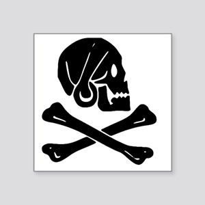 "Henry Every Jolly Roger:Pir Square Sticker 3"" x 3"""