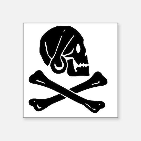 "Henry Every Jolly Roger:Pir Square Sticker 3"" x 3"""