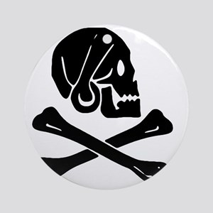 Henry Every Jolly Roger:Pirate Flag Round Ornament