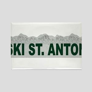 Ski St. Anton, Austria Rectangle Magnet