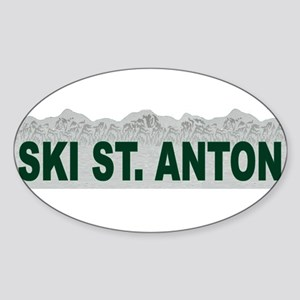 Ski St. Anton, Austria Oval Sticker