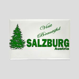 Visit Beautiful Salzburg, Aus Rectangle Magnet