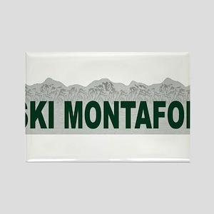 Ski Montafon Rectangle Magnet