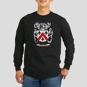 Walsh Family Crest (Coat  Long Sleeve Dark T-Shirt