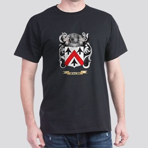 Walsh Family Crest (Coat of Arms) Dark T-Shirt