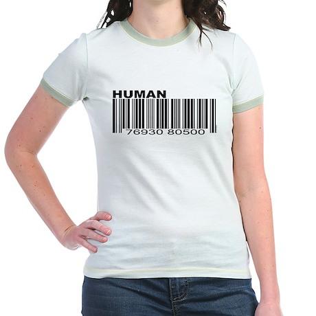 Human Barcode Jr. Ringer T-Shirt