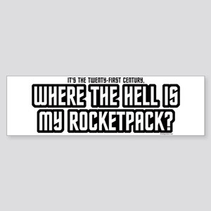 Where My Rocketpack Bumper Sticker