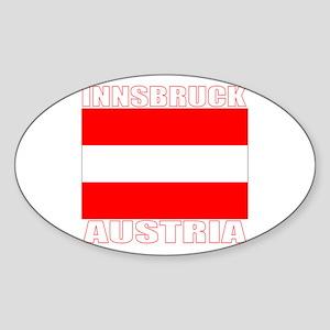 Innsbruck, Austria Oval Sticker
