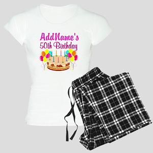 AWESOME 50TH Women's Light Pajamas
