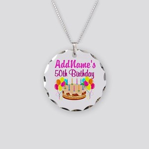 AWESOME 50TH Necklace Circle Charm