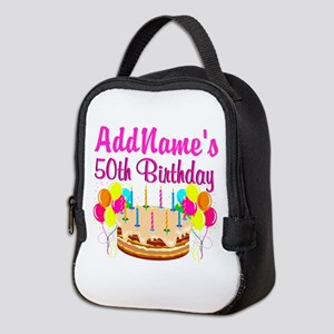 AWESOME 50TH Neoprene Lunch Bag