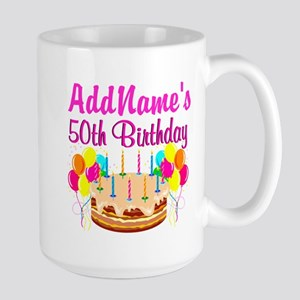 AWESOME 50TH Large Mug