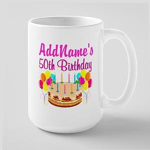 AWESOME 50TH Large Mug