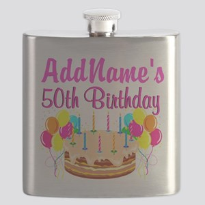 AWESOME 50TH Flask