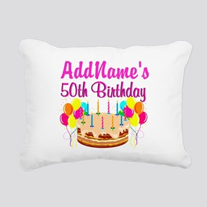 AWESOME 50TH Rectangular Canvas Pillow