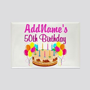 AWESOME 50TH Rectangle Magnet