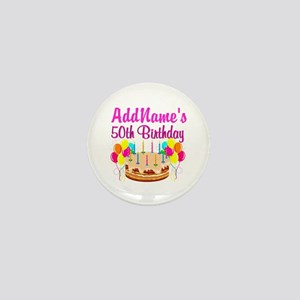 AWESOME 50TH Mini Button