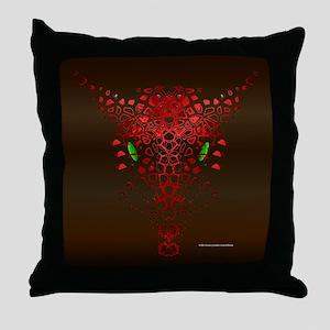 Abstract Dragon Throw Pillow