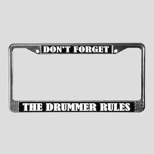 Funny Drummer License Plate Frame