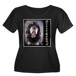 Otterhound Women's Plus Size Scoop Neck Dark T-Shi