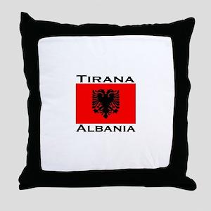 Tirana, Albania Throw Pillow