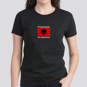 Tirana, Albania Women's Dark T-Shirt