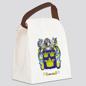 Wards Family Crest (Coat of Arms) Canvas Lunch Bag