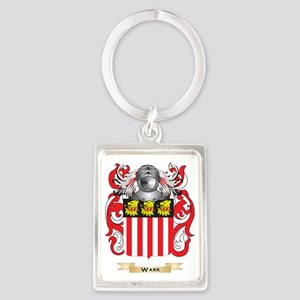Wark Family Crest (Coat of Arms) Portrait Keychain