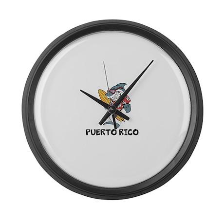 Puerto Rico Large Wall Clock