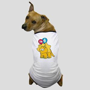 """""""I'm 4"""" Dinosaur Dog T-Shirt"""
