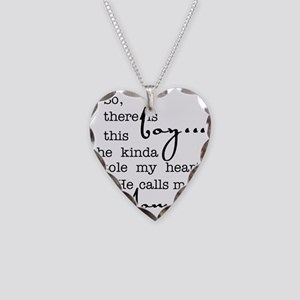 So There Is This Boy Who Stol Necklace Heart Charm