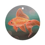 StephanieAM Goldfish Ornament (Round)