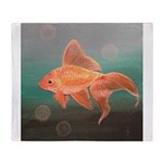 StephanieAM Goldfish Throw Blanket
