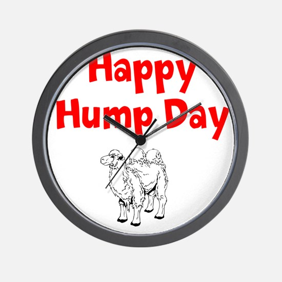 Happy Hump Day Wall Clock