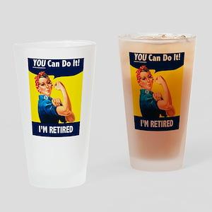 Rosie The Retired Riveter Drinking Glass
