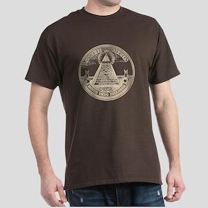 Steampunk Illuminati New Order Grunge T-Shirt