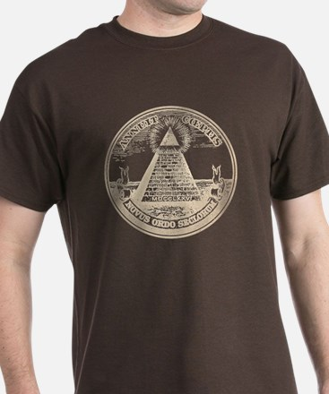Steampunk Illuminati New Order Grunge T-Shirt