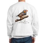Zebra Fnch Sweatshirt - Design Back
