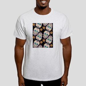 Day of The Dead Sugar Skull  Black Light T-Shirt