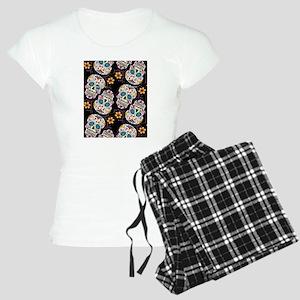 Day of The Dead Sugar Skull Women's Light Pajamas