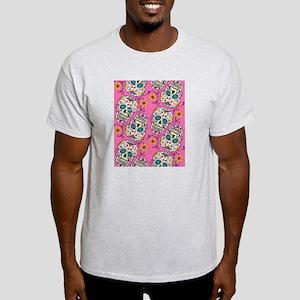Day of The Dead Sugar Skull Light T-Shirt