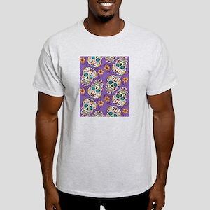 Day of The Dead Sugar Skull Purple Light T-Shirt