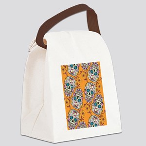 Day of The Dead Sugar Skull Orang Canvas Lunch Bag