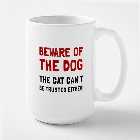 Beware Dog Cat Mugs