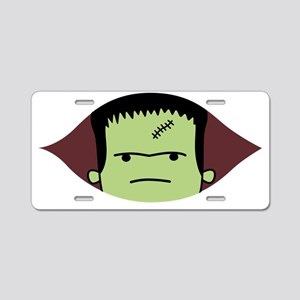 Peeking Frankenstein Aluminum License Plate